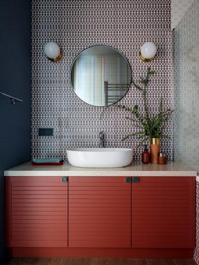 Contemporary Bathroom by Студия Татьяны Архиповой