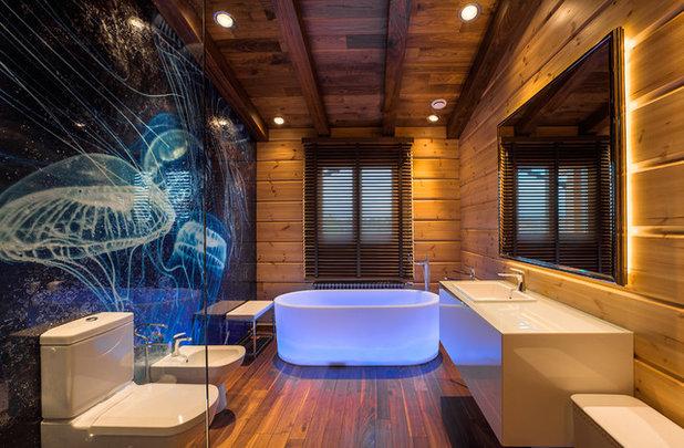 コンテンポラリー 浴室 Современный Ванная комната
