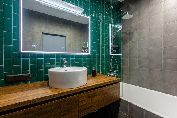 Industrial Bathroom by FLIK Дизайн и Ремонт