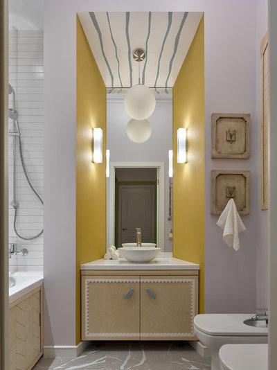 Современный Ванная комната by Quatrobase Studio