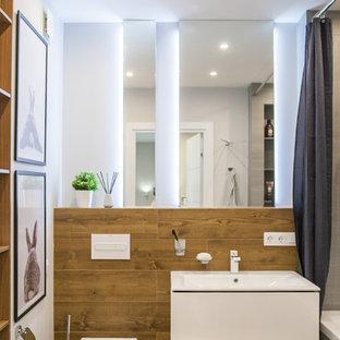 Источник вдохновения для домашнего уюта: ванная комната среднего размера в современном стиле