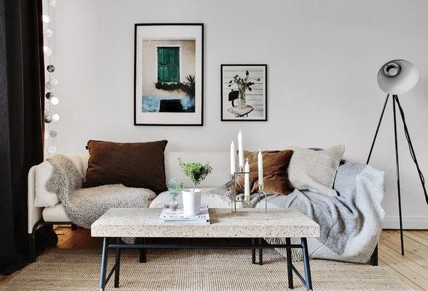 Scandinavian Living Room by Systrarna Blom AB
