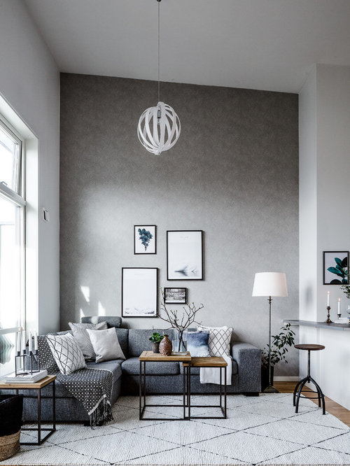 Scandinavian Living Room Design Model Top 30 Scandinavian Living Room With Gray Walls Ideas & Decoration .