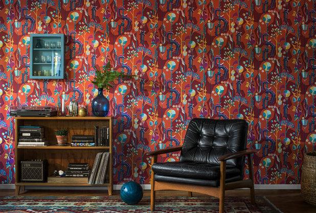 9 Wow Worthy Mid Century Wallpaper Designs