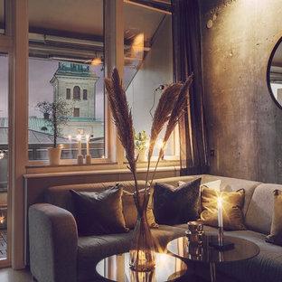 ヨーテボリの北欧スタイルのおしゃれなリビングの写真