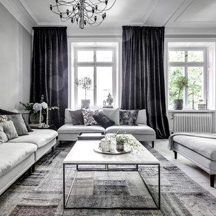 Inspiration för ett minimalistiskt vardagsrum