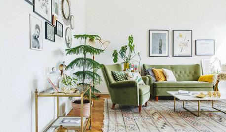 Canapés et fauteuils en velours subliment le salon