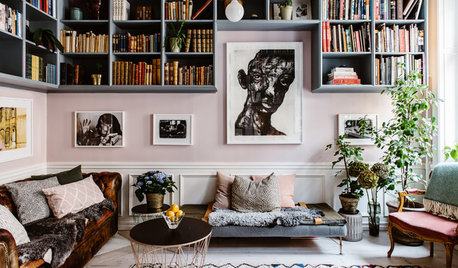 My Houzz: An Airy Period Flat Brimming With Books and Art