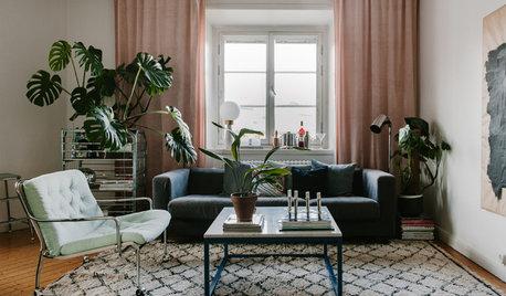 Houzz Швеция: Находки со свалки в квартире декоратора