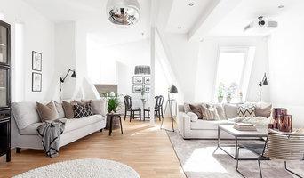 Inredning av modern loftvåning i Göteborg