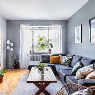 Bild på ett skandinaviskt vardagsrum