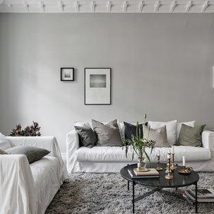 Inspiration för ett skandinaviskt vardagsrum
