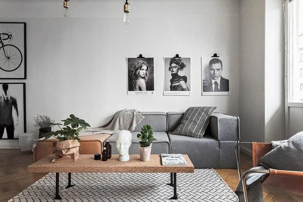 Skandinavisk Vardagsrum by Fastighetsbyrån