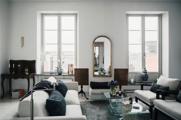 Modern Living Room by Wrede Fastighetsmäkleri