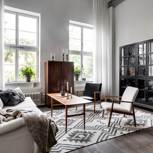 This is an example of a large scandi formal open plan living room in Stockholm.