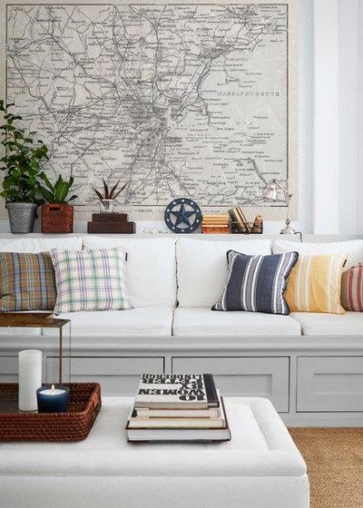 Beach Style Living Room by Boråstapeter