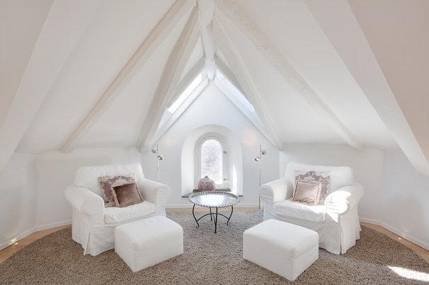 トランジショナル リビング・居間 by Penthouse Apartments Stockholm AB