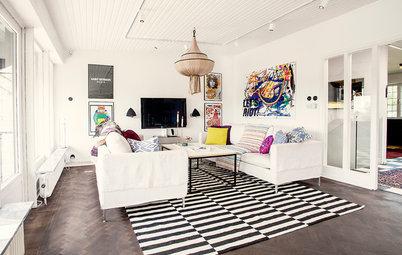 Houzz Tour: Fashion Steps Forward in a Coastal Swedish Home