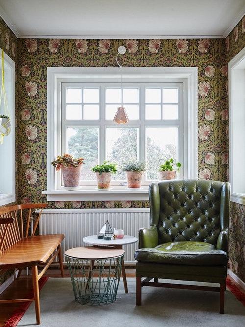 Shabby-Chic-Style Wohnzimmer mit farbigen Wänden - Ideen & Design ...
