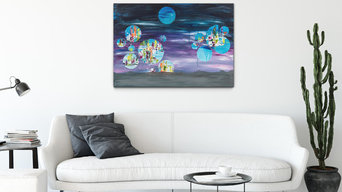 Moons of Saturn, 70 x 100 cm