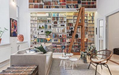 8 praktiska, stilrena förvaringsvarianter för rum med högt i tak