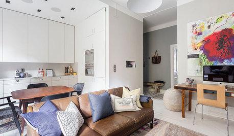 Lär dig expertens trick – möblera med soffan mitt i rummet