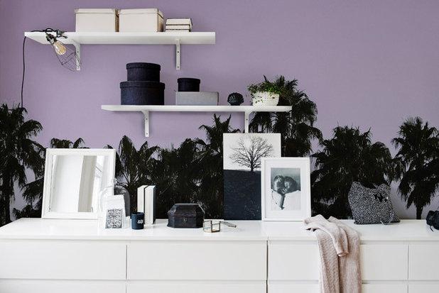 Eclectic Living Room by Rebel Walls