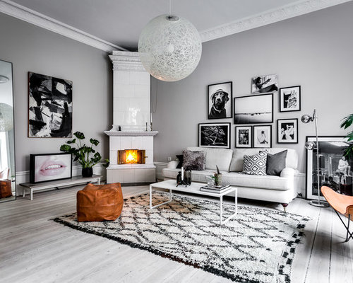 scandinavian living room design ideas, remodels & photos with a