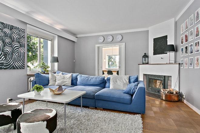 Skandinavisk Vardagsrum by Bülow & Lind Fastighetsförmedling AB