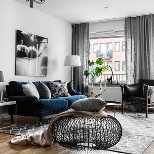 Idéer för ett mellanstort nordiskt separat vardagsrum