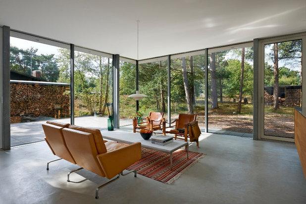 Scandinavian Living Room by Schüco Sverige