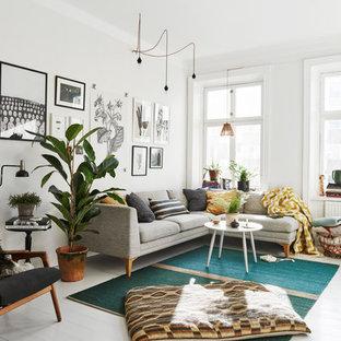 Inredning av ett skandinaviskt vardagsrum