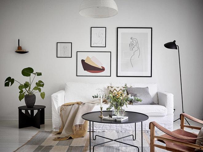 Scandinavian Living Room by Camilla Kärnestedt