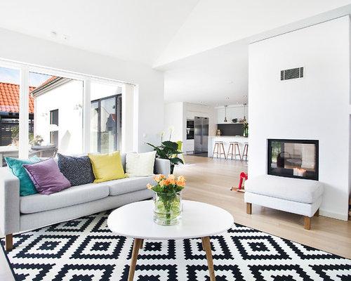 skandinavisches wohnen mit tunnelkamin ideen houzz. Black Bedroom Furniture Sets. Home Design Ideas