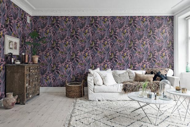 Scandinavian Living Room by Rebel Walls