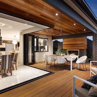 This is an example of a contemporary verandah in Melbourne.