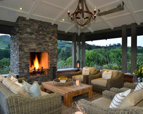 Ideas para terrazas dise os de terrazas de estilo de casa de campo en nueva zelanda - Terrazas casa de campo ...