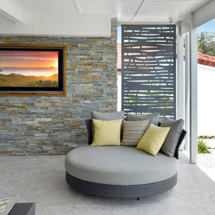 Outdoor furniture - round sofa with grey screens