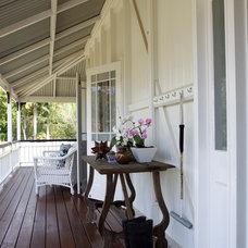 Traditional Porch by Black & Spiro Interior Design