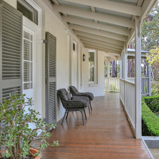 This is an example of a traditional verandah in Newcastle - Maitland with decking and a roof extension.
