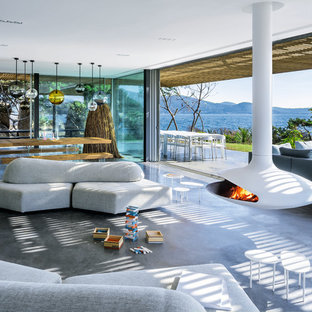 CHEMINEES SUSPENDUES CENTRALES BLANCHES / WHITE SUSPENDED CENTRAL FIREPLACES
