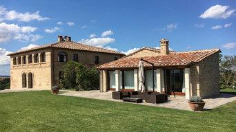 Nuova vita al podere nelle colline di Montalcino (Siena)