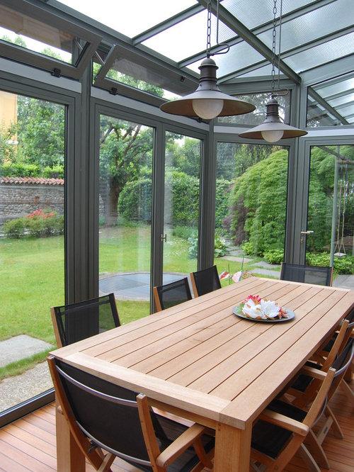 Billeder og indretningsidéer til veranda. moderne stue
