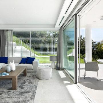 villa contemporanea in collina 450mq