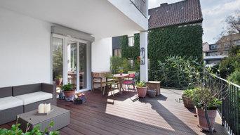 Große Veranda in einer Maisonette-Wohnung, Düsseldorf