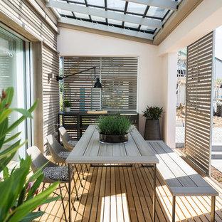 Imagen de terraza contemporánea de tamaño medio