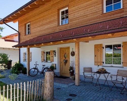 Außenleuchten Landhausstil zweistöckige landhausstil häuser und fassaden ideen für die haus fassadengestaltung houzz