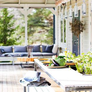 Exempel på en minimalistisk veranda