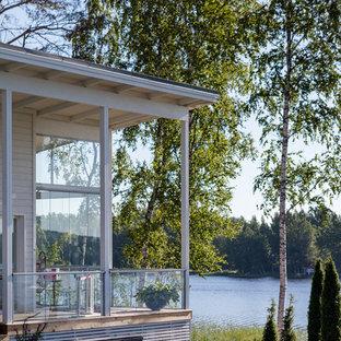 Новый формат декора квартиры: веранда в скандинавском стиле с навесом