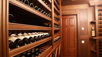 Винный погреб красного дерева / Mahogany Wine Cellar.